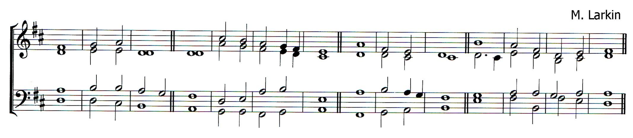 Double chant in D major by Matthew Larkin