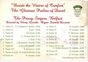 """CD back card """"Besides the Waters of Comfort"""""""