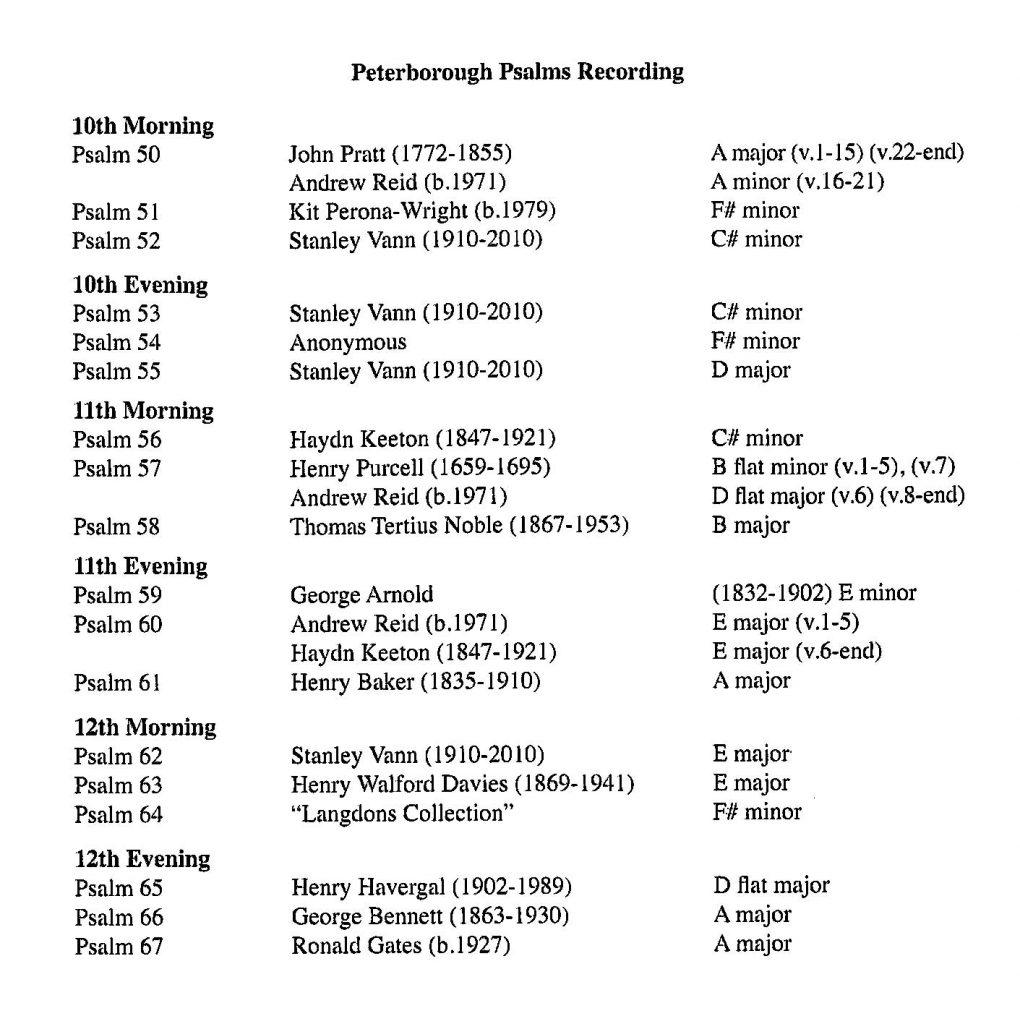"""CD back card """"The Complete Psalms of David"""" - Series 2, Volume 4"""