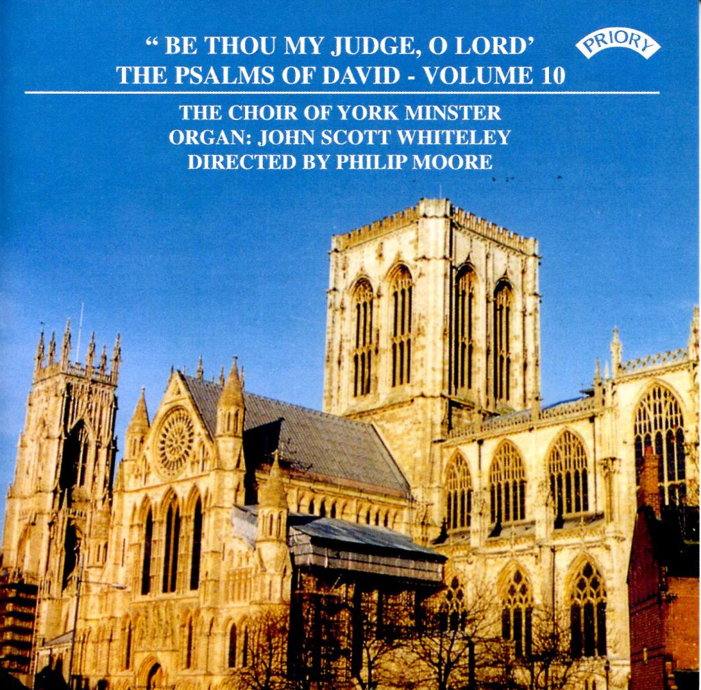 """CD liner notes front cover """"Be Thou my judge, O Lord - The Psalms of David"""" - Series 1, Volume 10"""