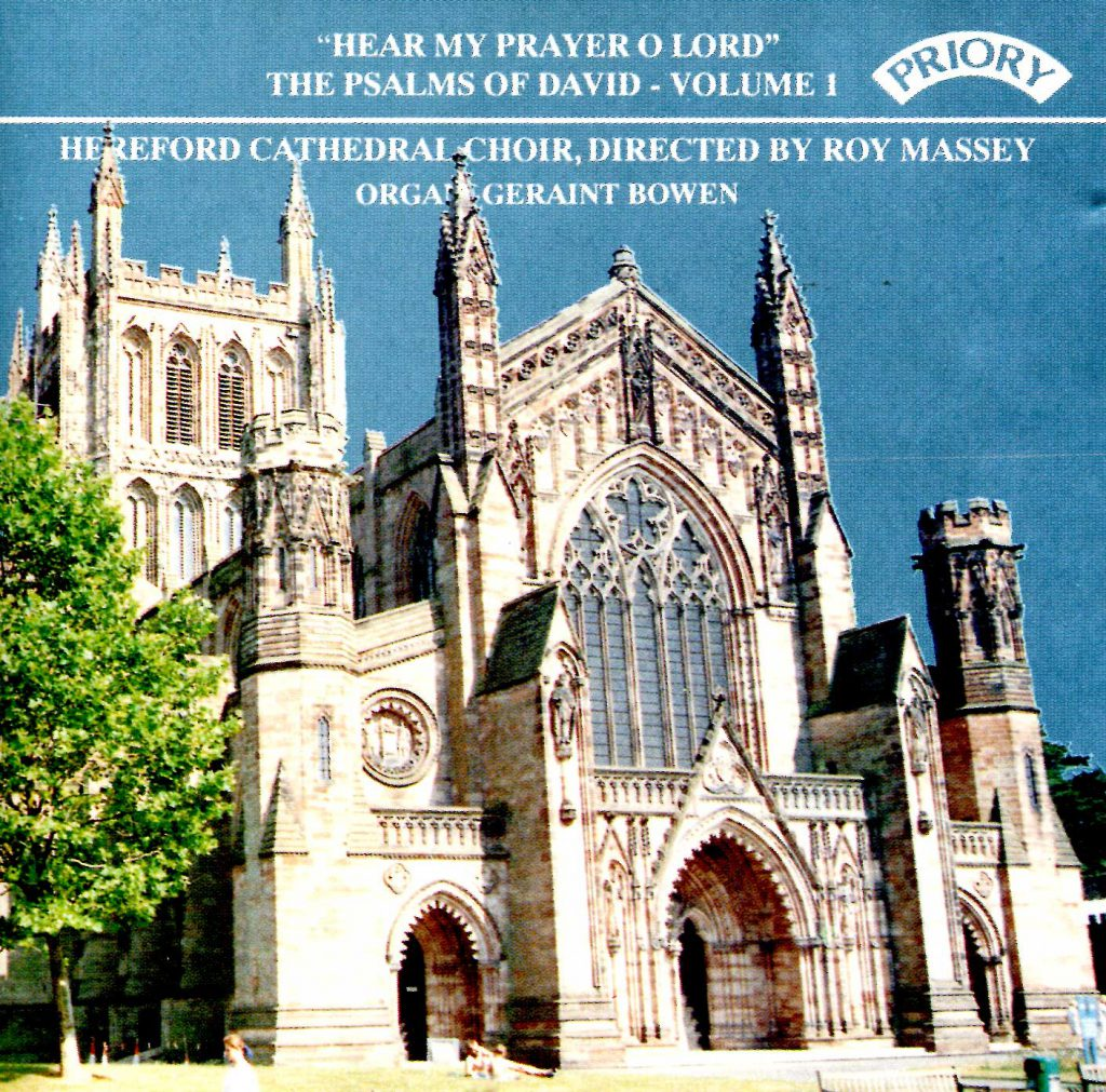 """CD liner notes front cover """"Hear my prayer O Lord - The Psalms of David"""" - Series 1, Volume 1"""
