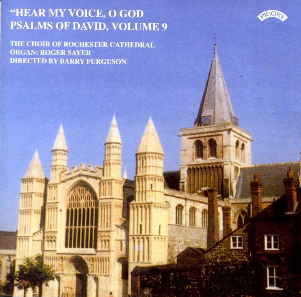 """CD liner notes front cover """"Hear my voice, O God - The Psalms of David"""" - Series 1, Volume 9"""
