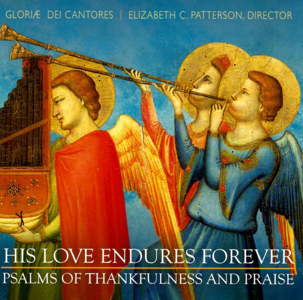 """CD liner notes front cover """"His love endures Forever"""""""