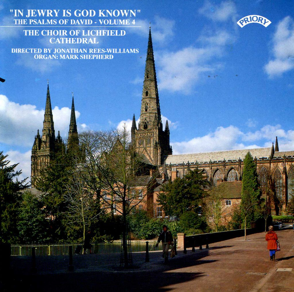 """CD liner notes front cover """"In Jewry is God known - The Psalms of David"""" - Series 1, Volume 4"""