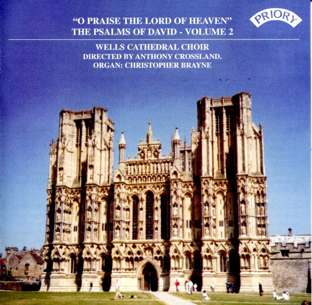 """CD liner notes front cover """"O praise the Lord of heaven - The Psalms of David"""" - Series 1, Volume 2"""