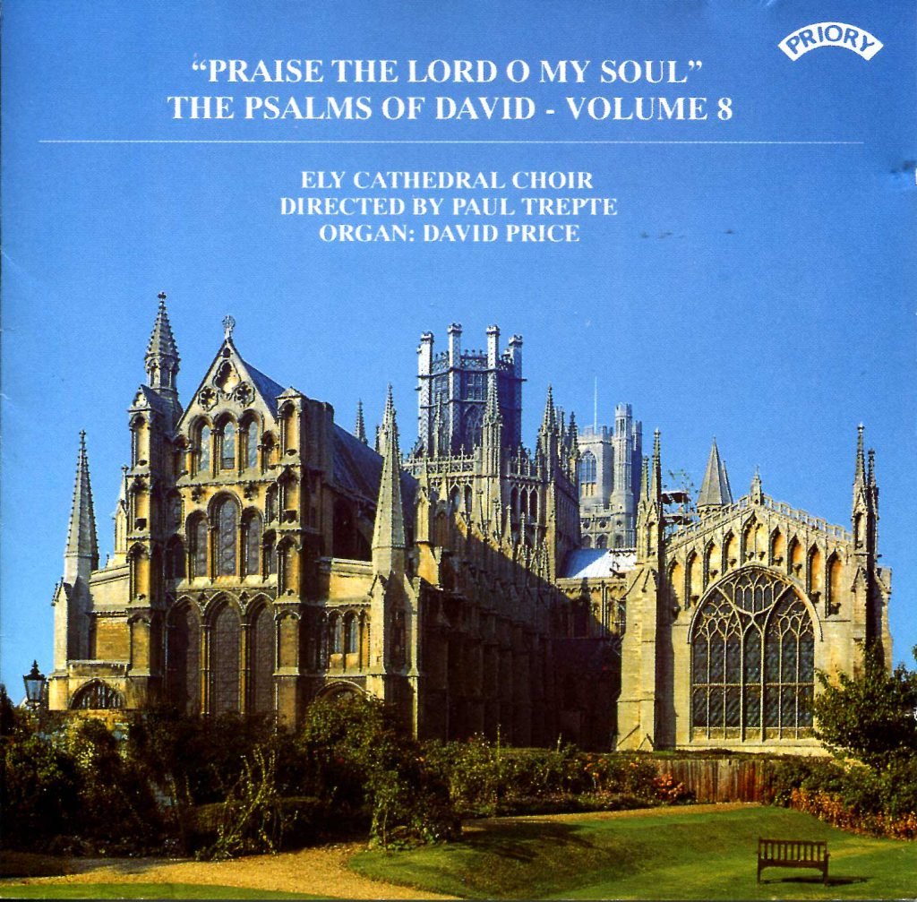 """CD liner notes front cover """"Praise the Lord O my soul - The Psalms of David"""" - Series 1, Volume 8"""