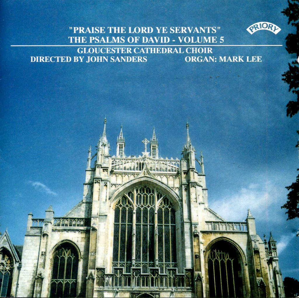 """CD liner notes front cover """"Praise the Lord ye servants - The Psalms of David"""" - Series 1, Volume 5"""