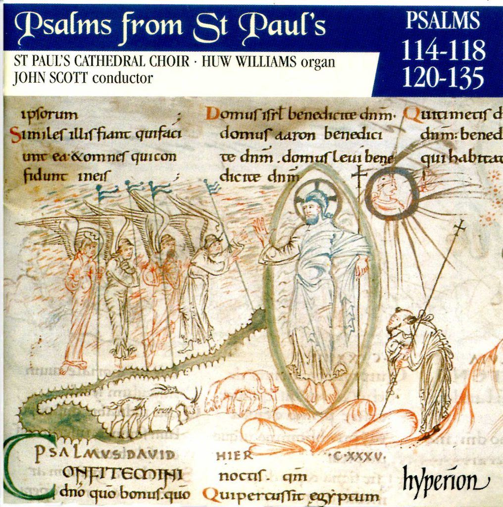 """CD liner notes front cover """"Psalms from St Paul's"""" - Volume 10"""