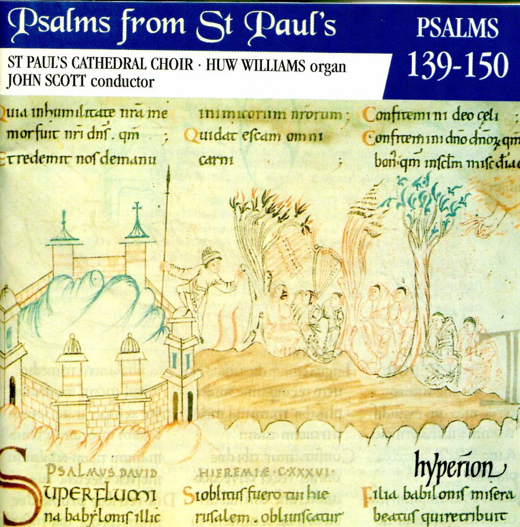 """CD liner notes front cover """"Psalms from St Paul's"""" - Volume 12"""