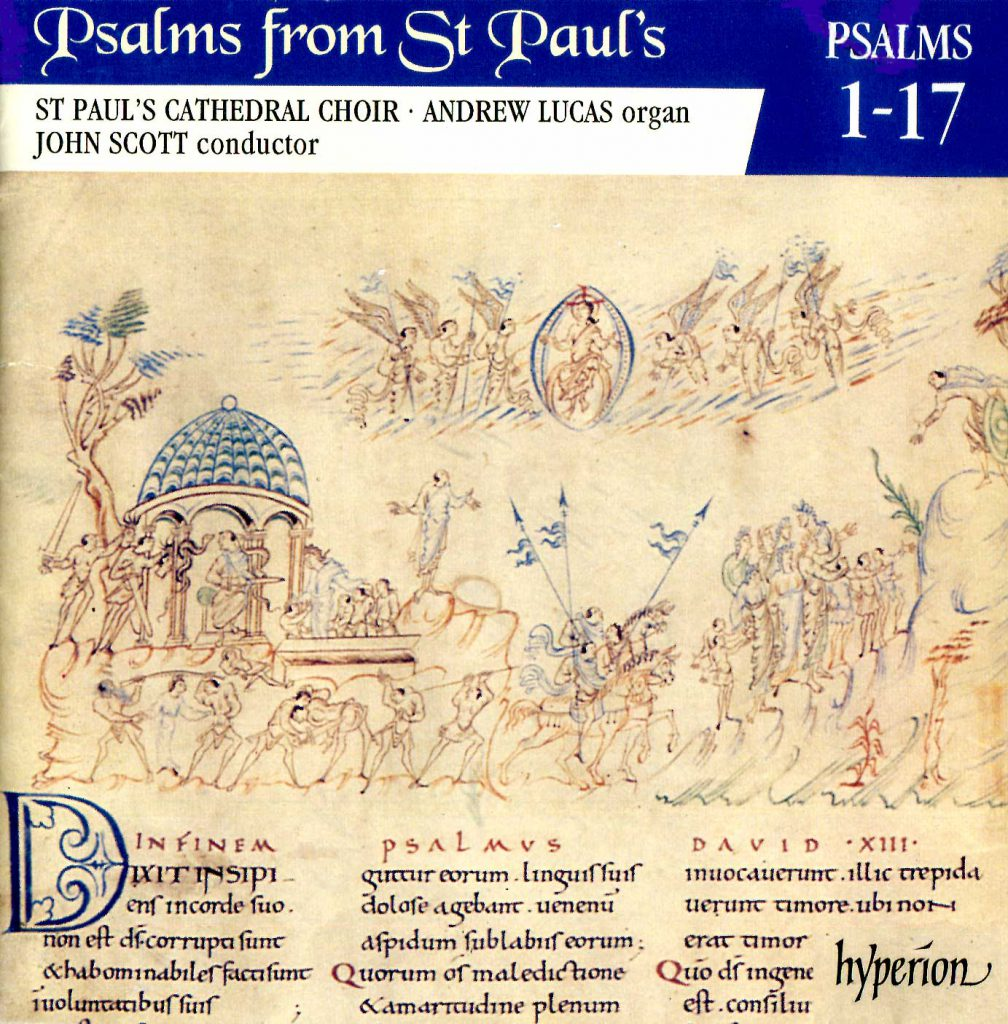 """CD liner notes front cover """"Psalms from St Paul's"""" - Volume 1"""