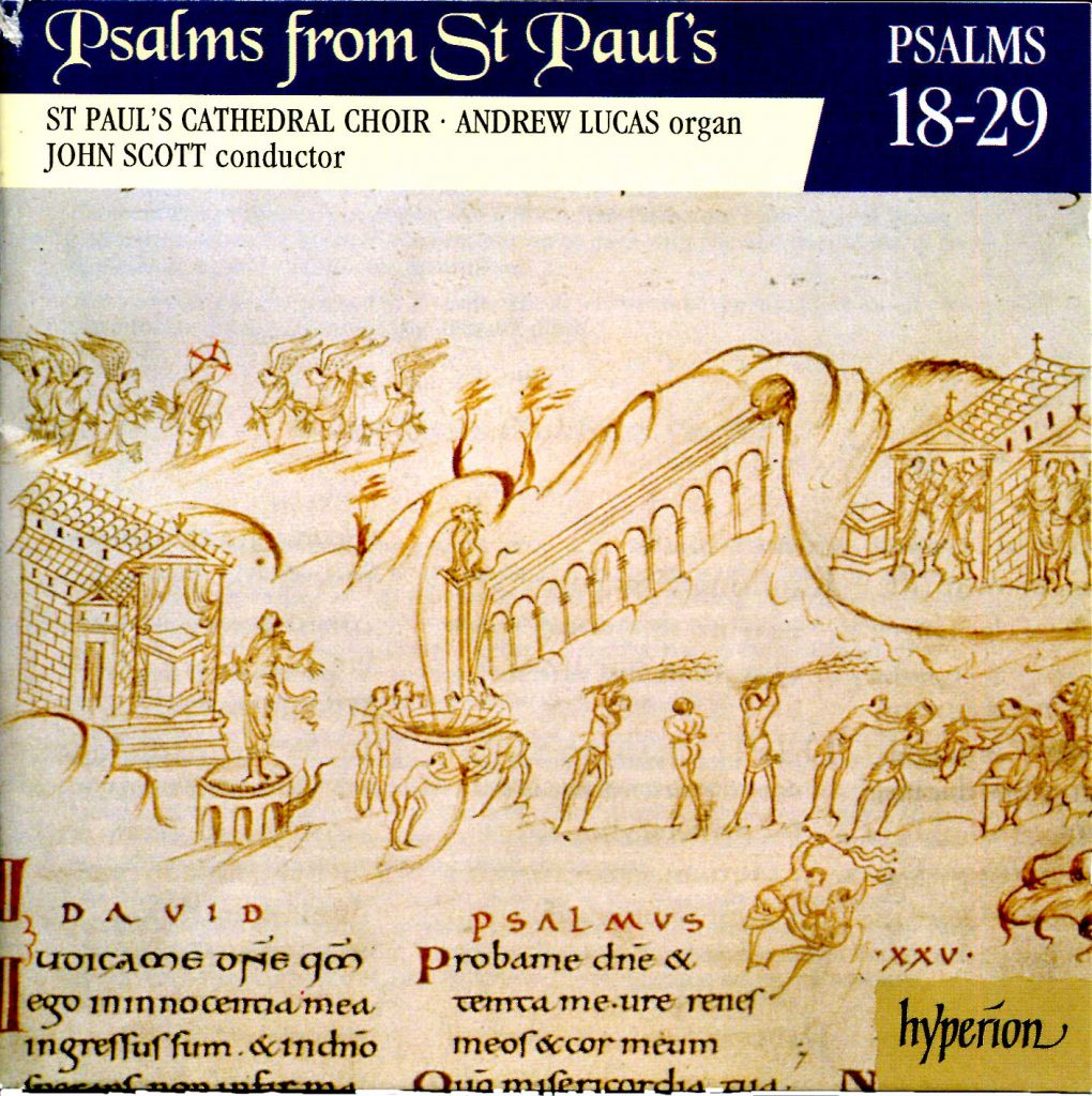 """CD liner notes front cover """"Psalms from St Paul's"""" - Volume 2"""