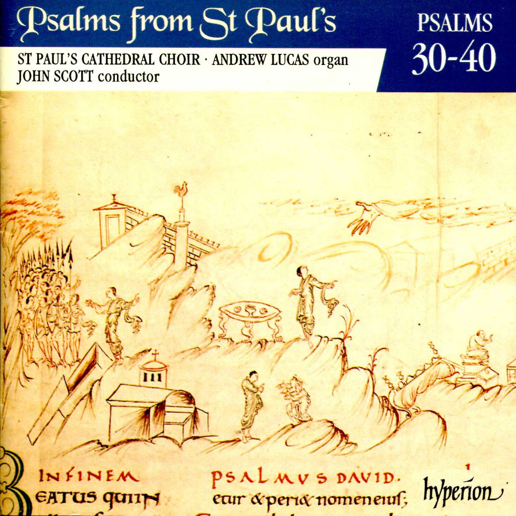 """CD liner notes front cover """"Psalms from St Paul's"""" - Volume 3"""
