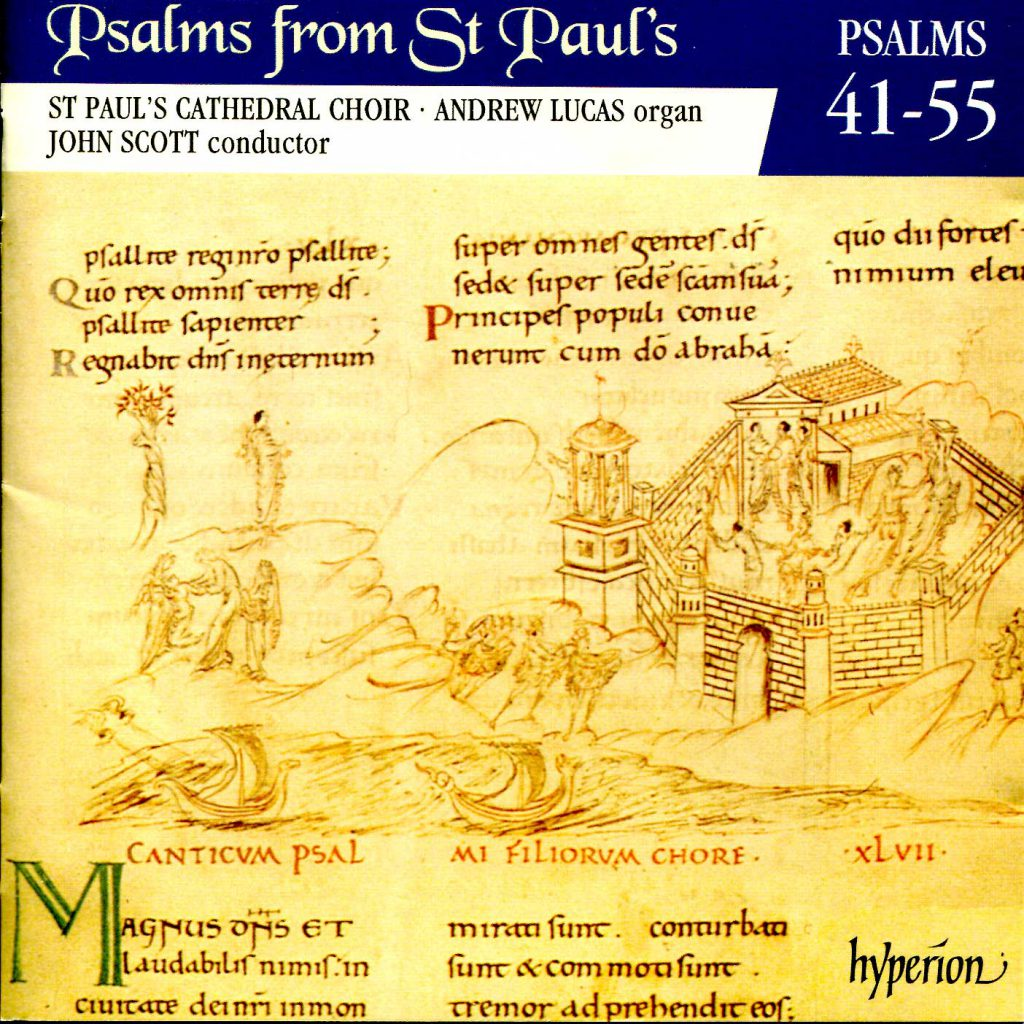 """CD liner notes front cover """"Psalms from St Paul's"""" - Volume 4"""
