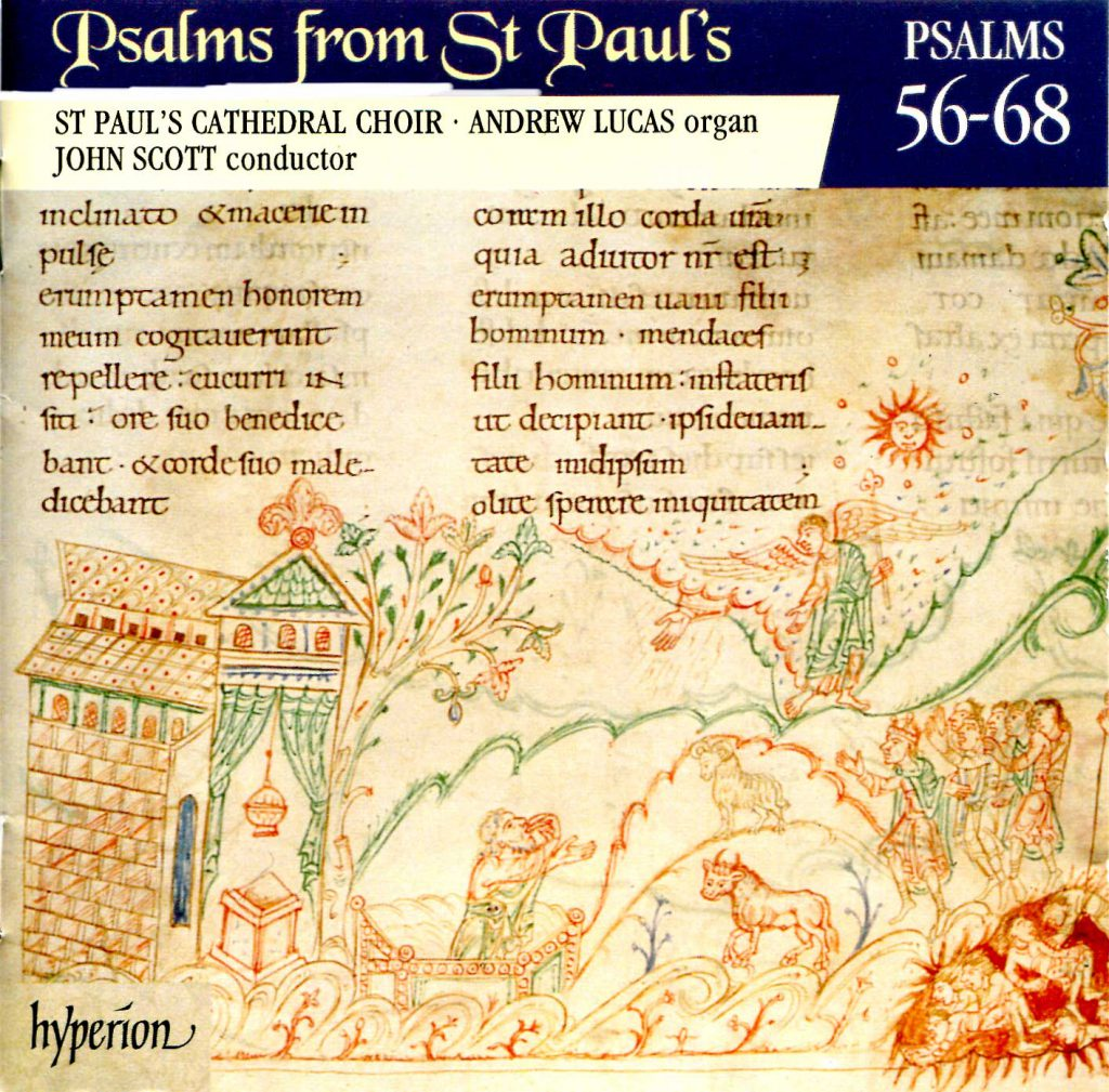 """CD liner notes front cover """"Psalms from St Paul's"""" - Volume 5"""