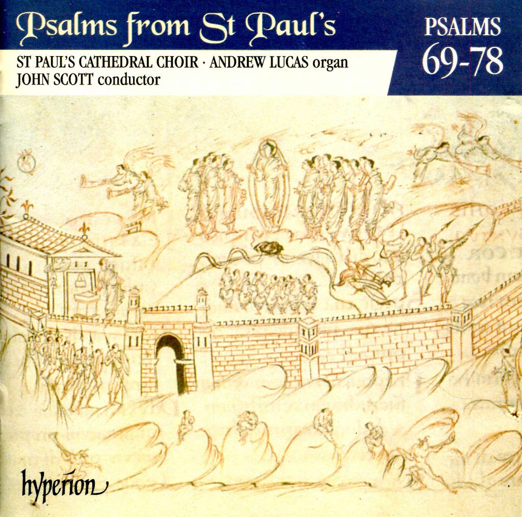 """CD liner notes front cover """"Psalms from St Paul's"""" - Volume 6"""