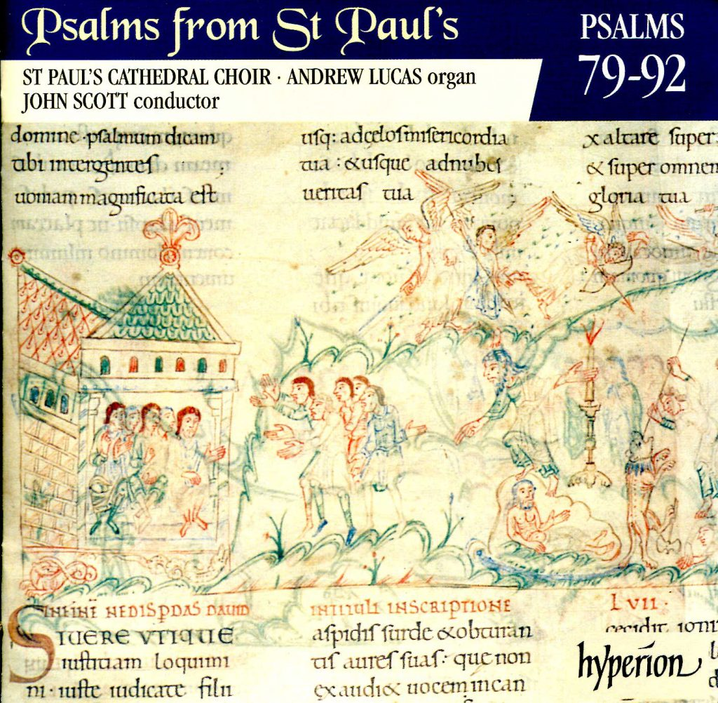 """CD liner notes front cover """"Psalms from St Paul's"""" - Volume 7"""