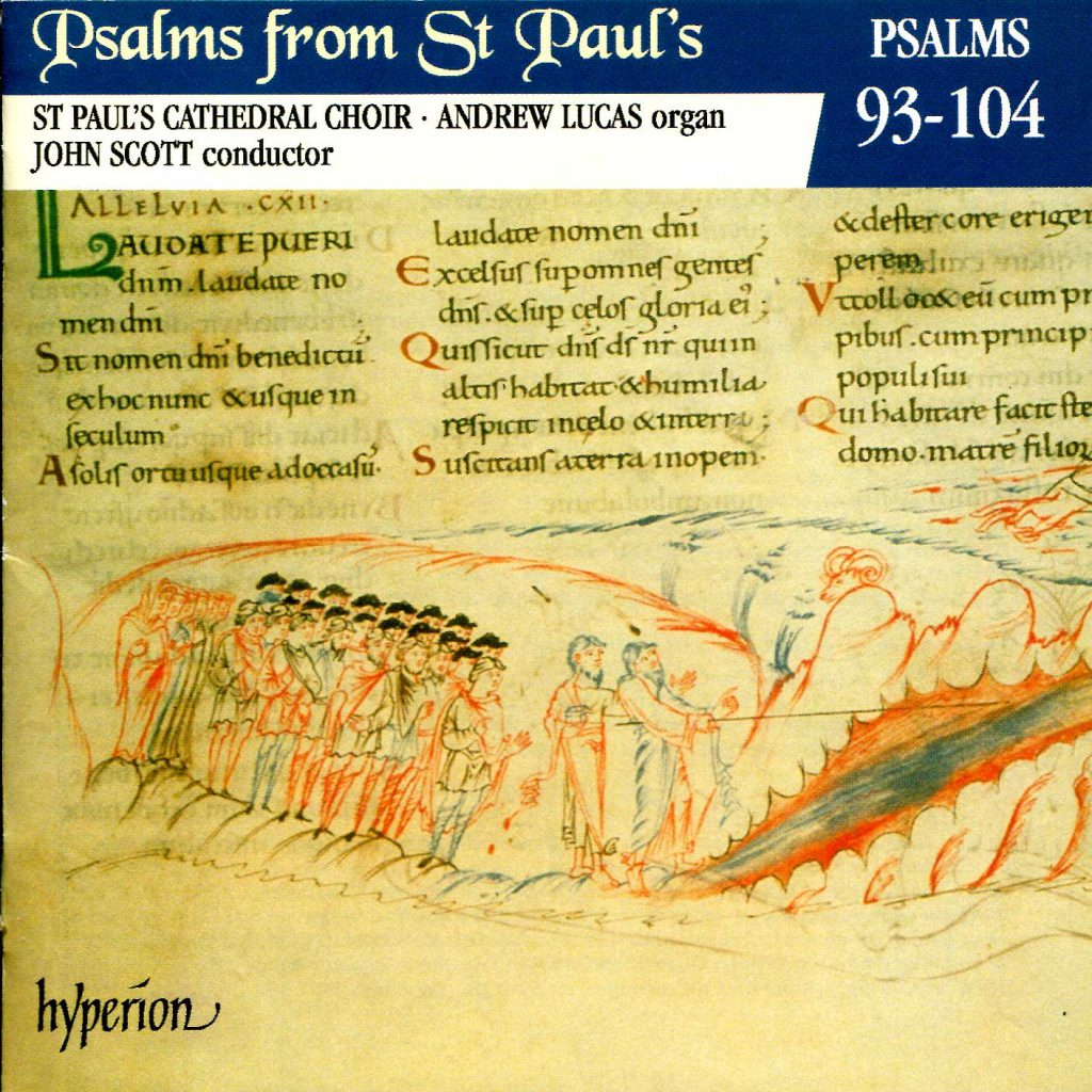 """CD liner notes front cover """"Psalms from St Paul's"""" - Volume 8"""