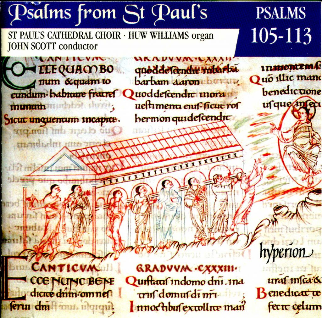 """CD liner notes front cover """"Psalms from St Paul's"""" - Volume 9"""