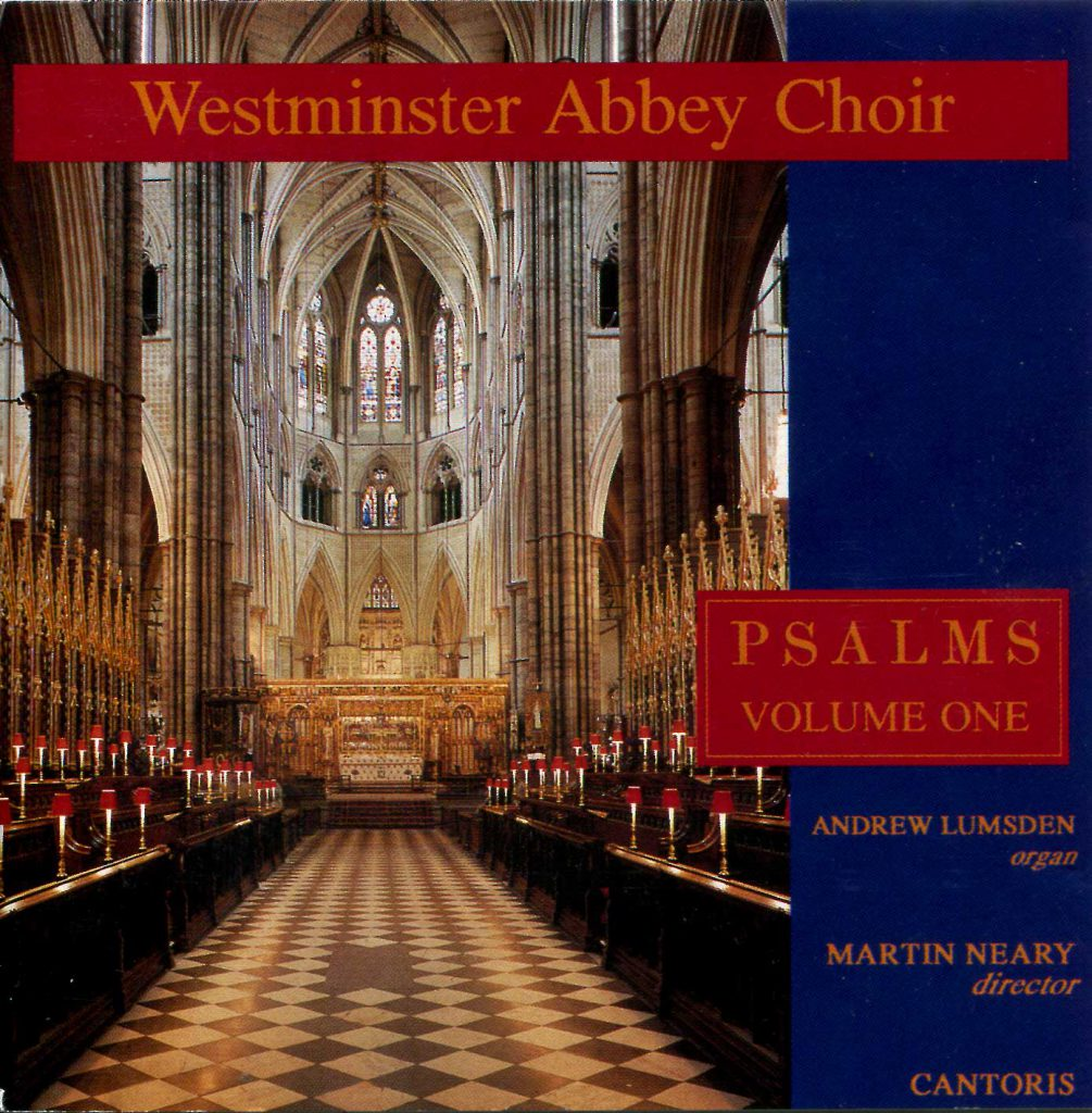 """CD liner notes front cover """"Psalms"""" - Volume 1"""