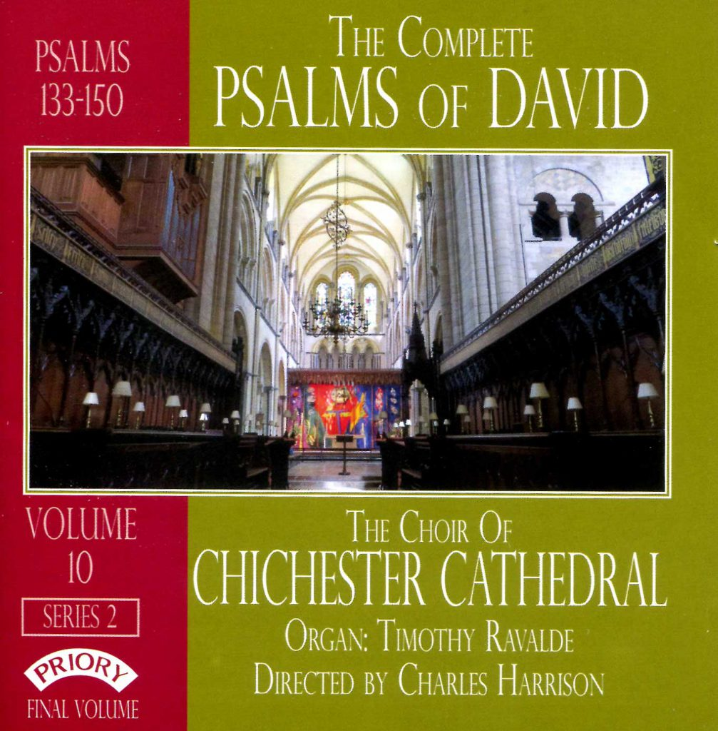 """CD liner notes front cover """"The Complete Psalms of David"""" - Series 2, Volume 10"""