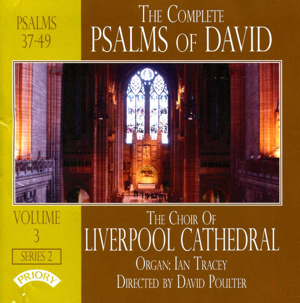 """CD liner notes front cover """"The Complete Psalms of David"""" - Series 2, Volume 3"""