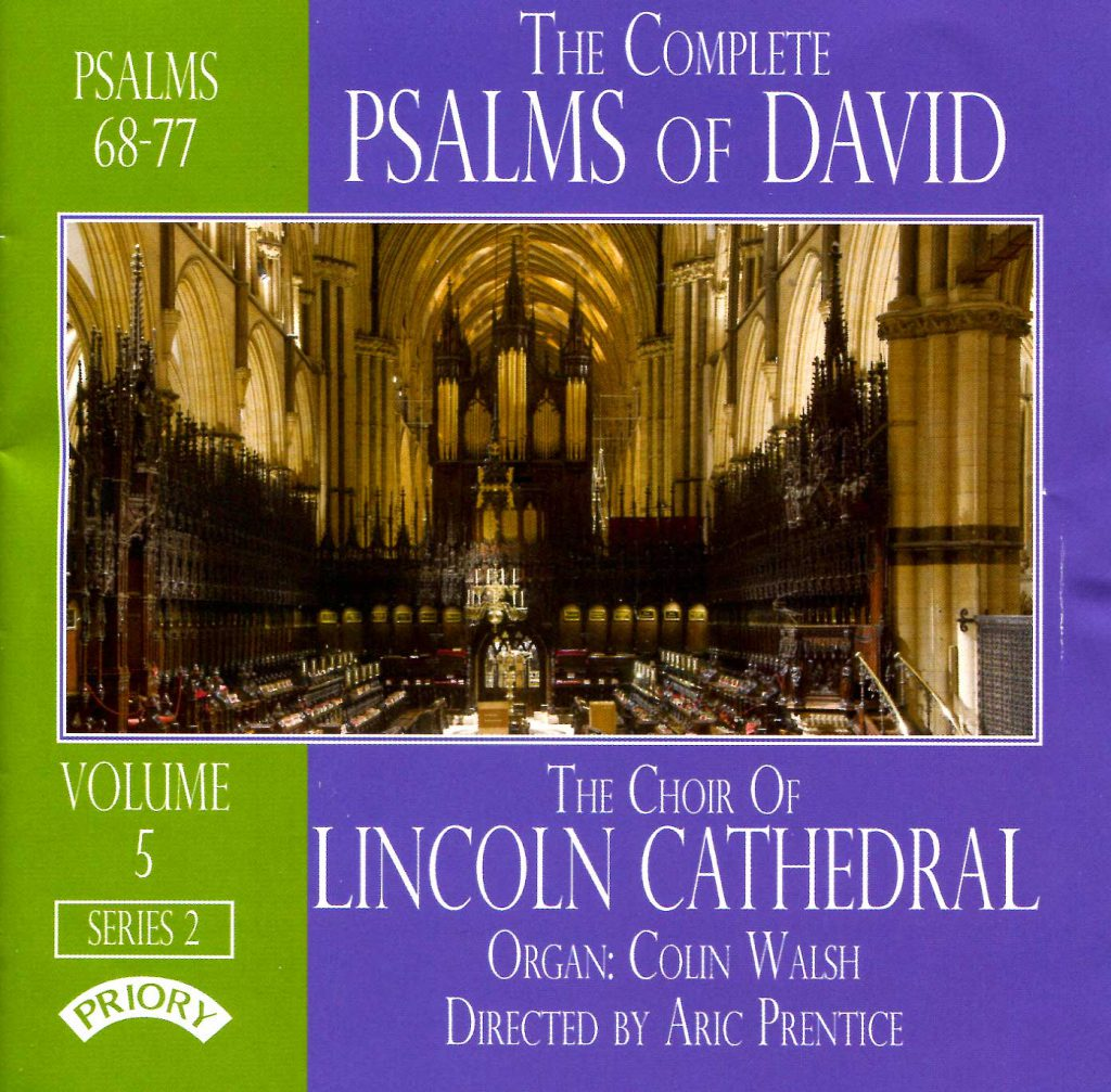 """CD liner notes front cover """"The Complete Psalms of David"""" - Series 2, Volume 5"""