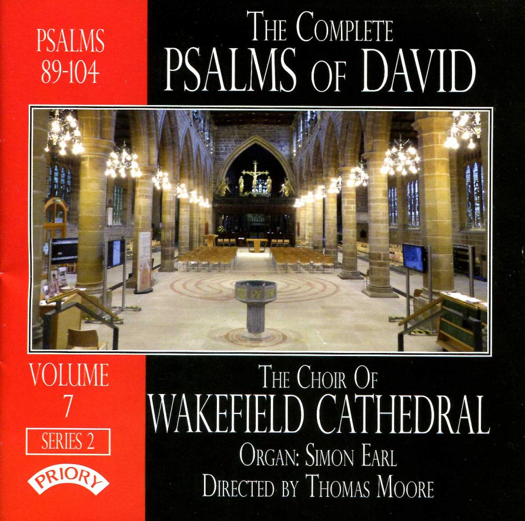 """CD liner notes front cover """"The Complete Psalms of David"""" - Series 2, Volume 7"""