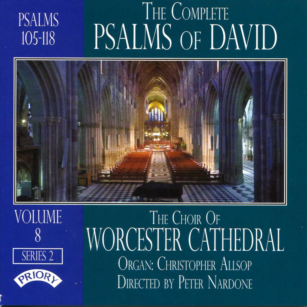 """CD liner notes front cover """"The Complete Psalms of David"""" - Series 2, Volume 8"""