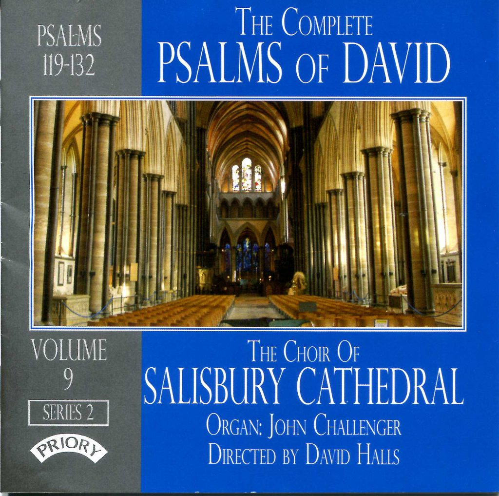 """CD liner notes front cover """"The Complete Psalms of David"""" - Series 2, Volume 9"""
