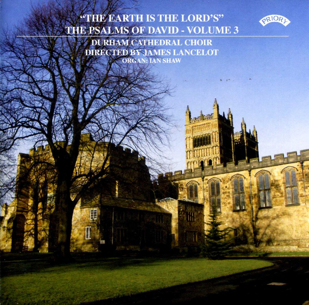 """CD liner notes front cover """"The earth is the Lord's - The Psalms of David"""" - Series 1, Volume 3"""