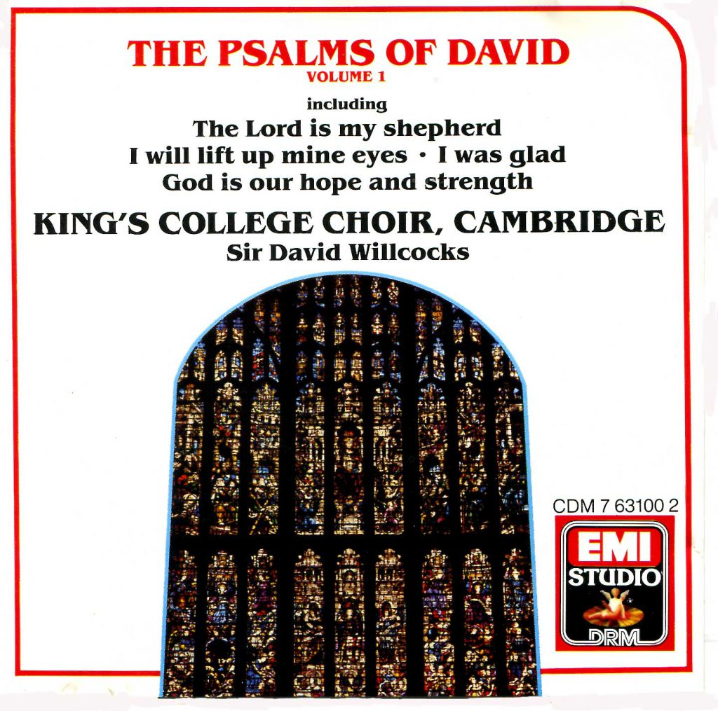 """CD liner notes front cover """"The Psalms of David"""" - Volume 1"""