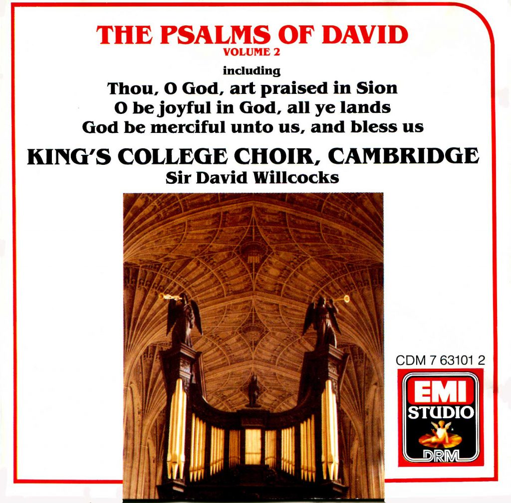 """CD liner notes front cover """"The Psalms of David"""" - Volume 2"""
