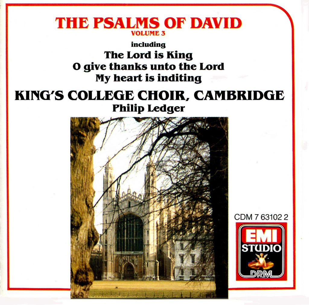 """CD liner notes front cover """"The Psalms of David"""" - Volume 3"""