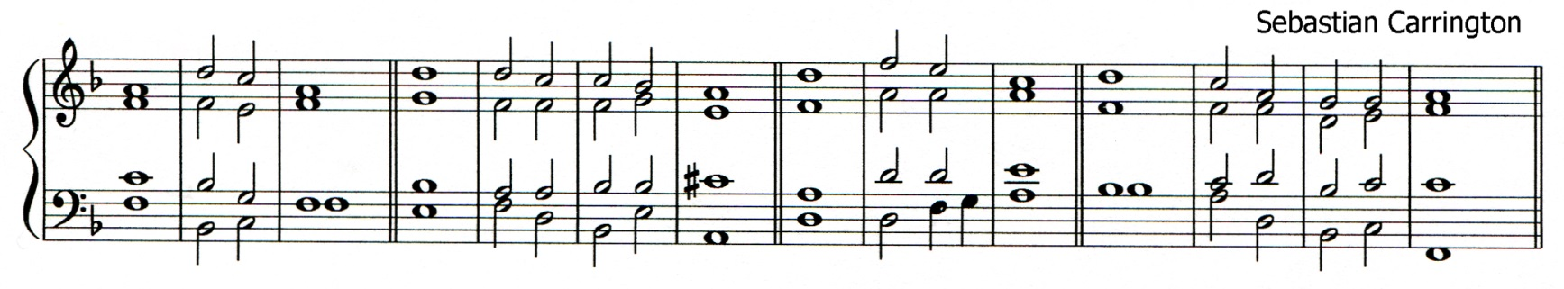 Double chant in F major by Sebastian Carrington