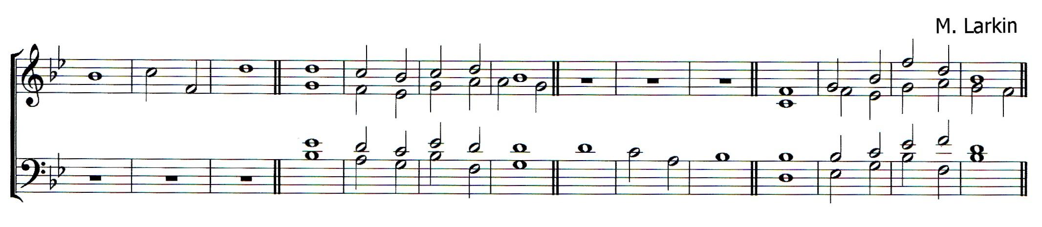 Double chant in B flat major by Matthew Larkin