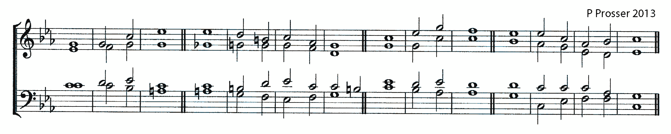 Double chant in C minor by Philip Prosser