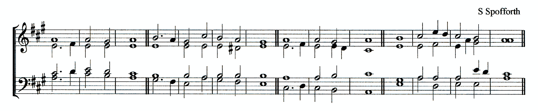 Double chant in A major by Samuel Spofforth