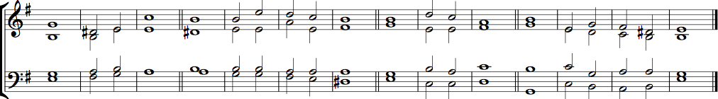 Double chant in E minor by Sir John Stainer