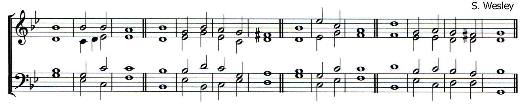 Double chant in G minor by Samuel Wesley