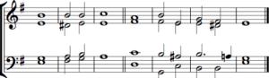 Single chant in E minor by Samuel Sebastian Wesley