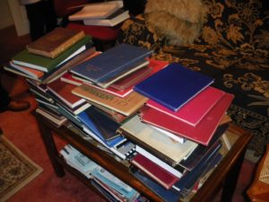 Photograph of some of the sources in the Archive